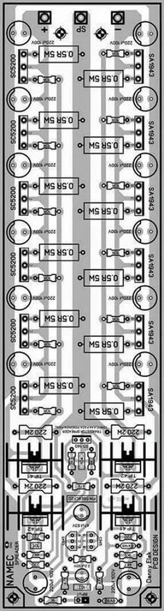 Pcb Layout Namec Power Amplifier Electronics Circuit Audio Amplifier Subwoofer Amplifier