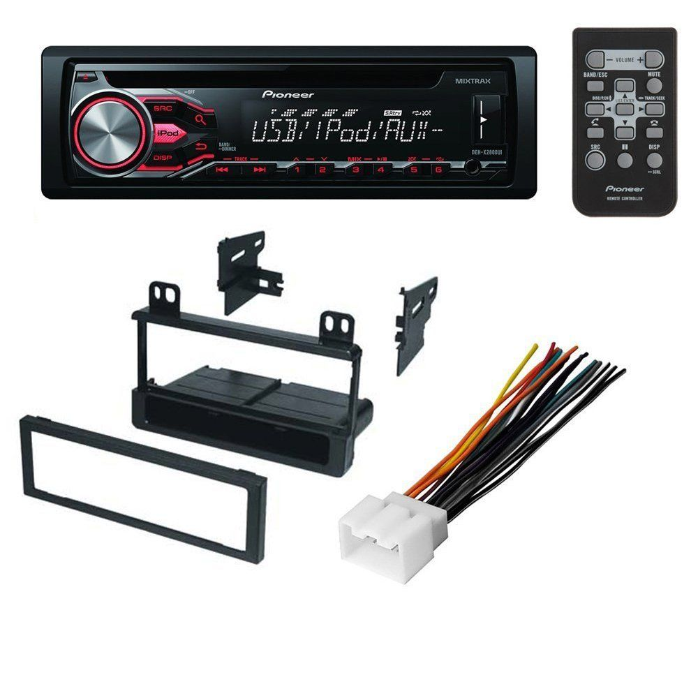 Car Cd Stereo Receiver Dash Install Mounting Kit Wire Harness Radio Player Antenna For Ford Lincoln And