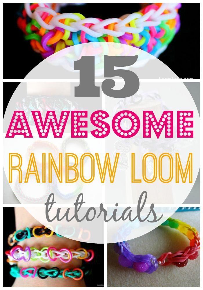 15 Fun Rainbow Loom Bracelet Tutorials Diy Home Decor Pinterest