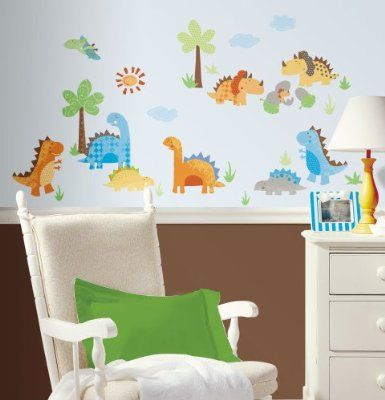 Exceptional RoomMates Babysaurus Repositionable Childrens Wall Stickers, Multi Colour Pictures Gallery