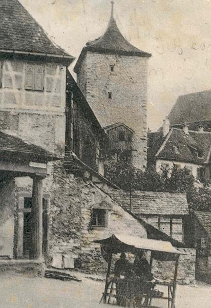 Hinten Malefiz Turm Vorne Links Wuertembergische Hauptwache Von 1811 Schwaebisch Hall