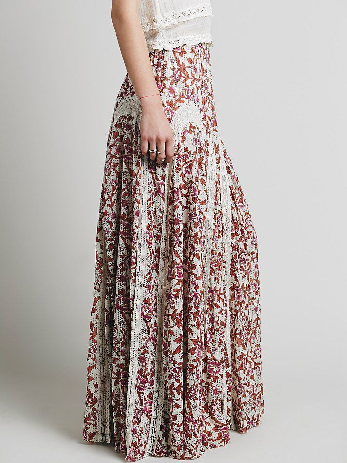 Free People FP ONE Zoe Maxi Skirt at Free People Clothing Boutique $190, cotton