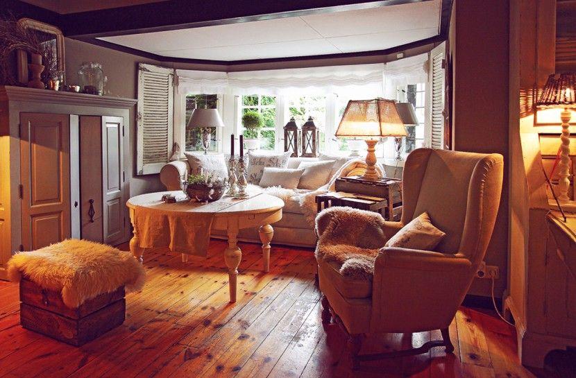 Vintage Shabby Chic Wintergarten Deko Antik Interior Wohnen Wohnzimmer