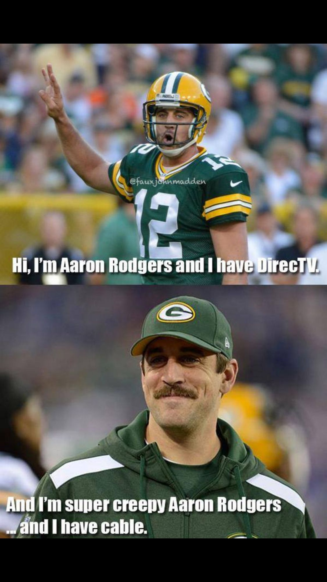 Oh Aaron Rodgers Lol Aaron Rodgers Tv Commercials Directv