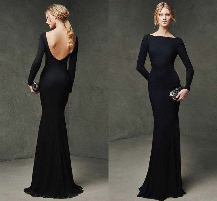 1001 id es de tenue f minine avec robe longue noire for Coiffure demoiselle d honneur ado