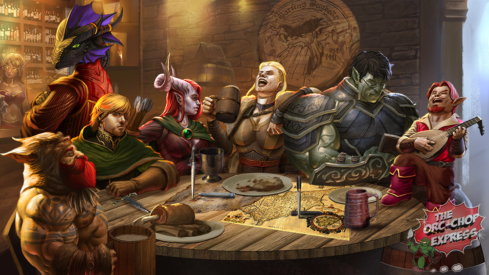 Adventurers Relaxing In The Barfing Bugbear Forgotten