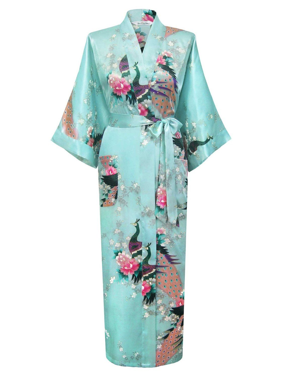 Swhiteme Women's Kimono Robe – Peacock & Blossom  ---  Price : $39.95   ----   Total Reviews : 70 -> http://girlwardrobe.com/?post_type=product&p=1419