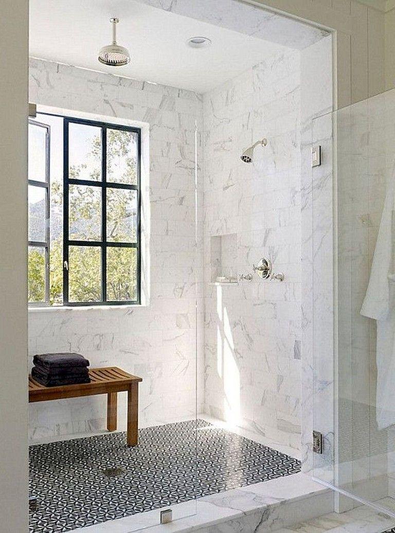 142 Marvelous Farmhouse Bathroom Tile Floor Decor Ideas And