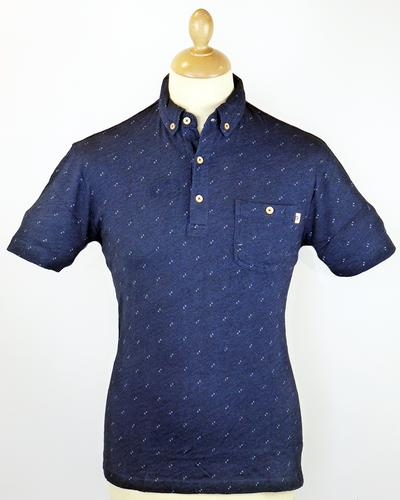 39f65c9a3301 The Raven FARAH 1920 Retro Fleck Marl Polo Shirt D