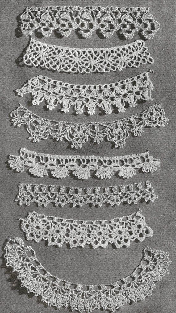 1940 Lace Edgings Vintage Crochet Pattern 200 by knittedcouture ...