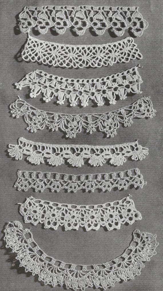 1940 Lace Edgings Vintage Crochet Pattern Vintage Crochet Patterns