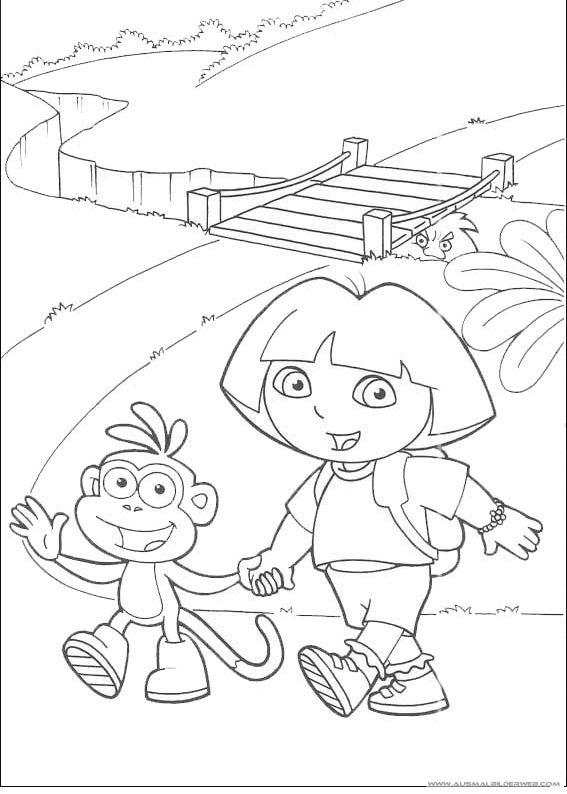 Ausgezeichnet Dora Die Explorer Druckbare Malvorlagen Fotos - Entry ...