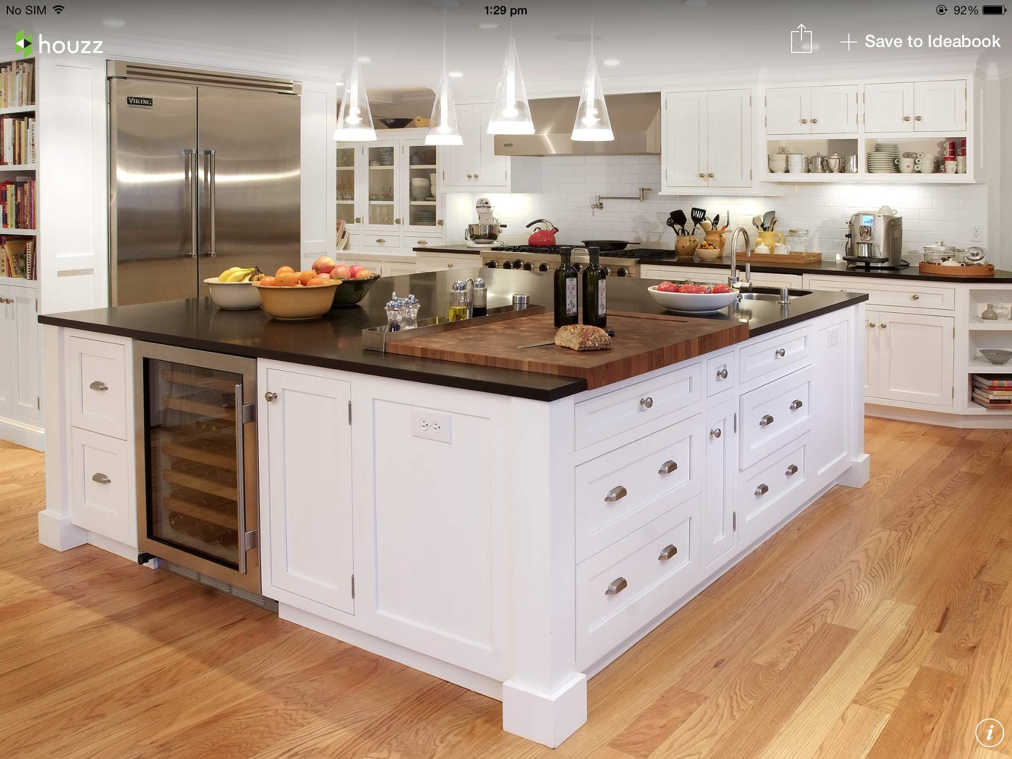 Love The Chopping Board In The Bench Top The Big Fridge And The Wine Fridge Custom Kitchen Island Stools For Kitchen Island Square Kitchen