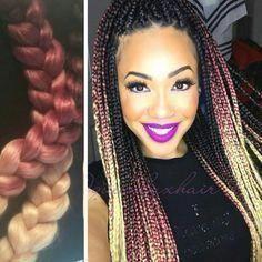 #ColorBraids #LongBraids #BoxBraids #ProtectiveStyle #braids #smallboxbraids #cuteboxbraids # loose Braids blonde