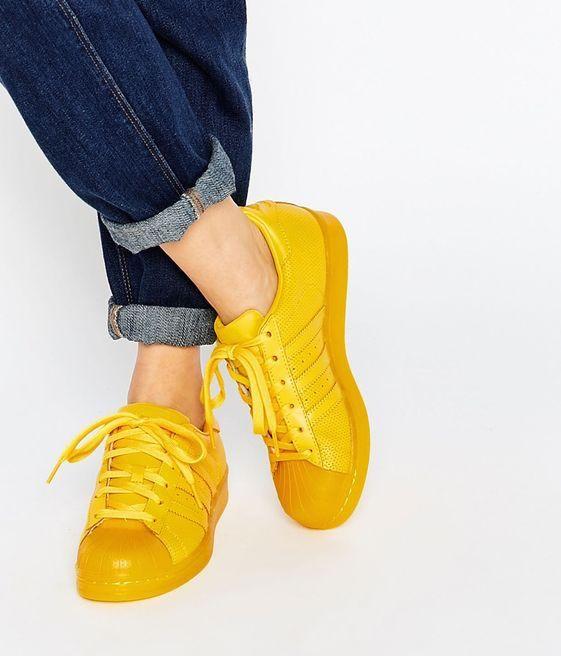 adidas originals jaune femme