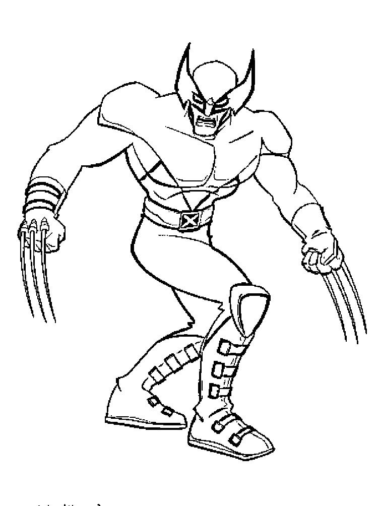 X man Wolverine Coloring Pages xman Pinterest