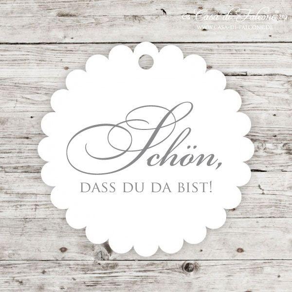 Hochzeit I Geschenkanhanger Schon Dass Du Da Bist I Papieranhanger Geschenkanhanger Personalisierte Gastgeschenke Hochzeitskarten Ideen