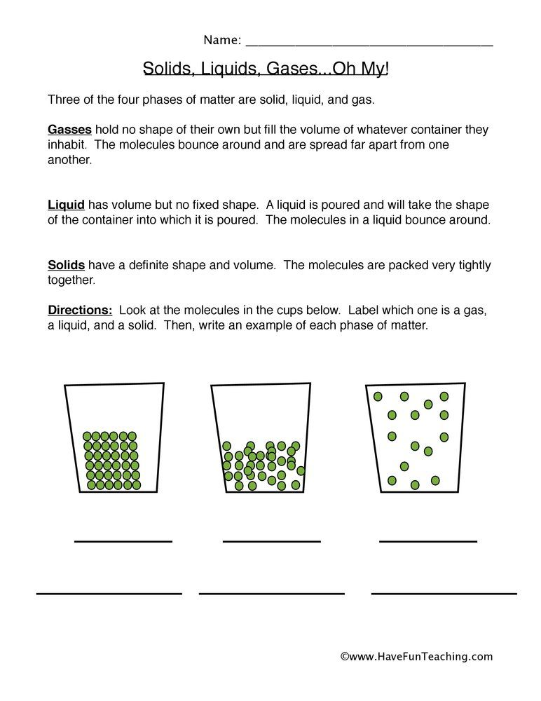 Resources Science States Of Matter Worksheets States Of