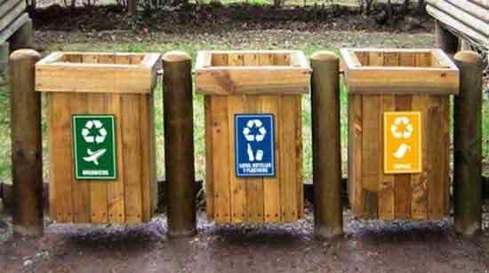 Basureros de madera en 2019 contenedores de reciclaje - Reciclaje de la madera ...