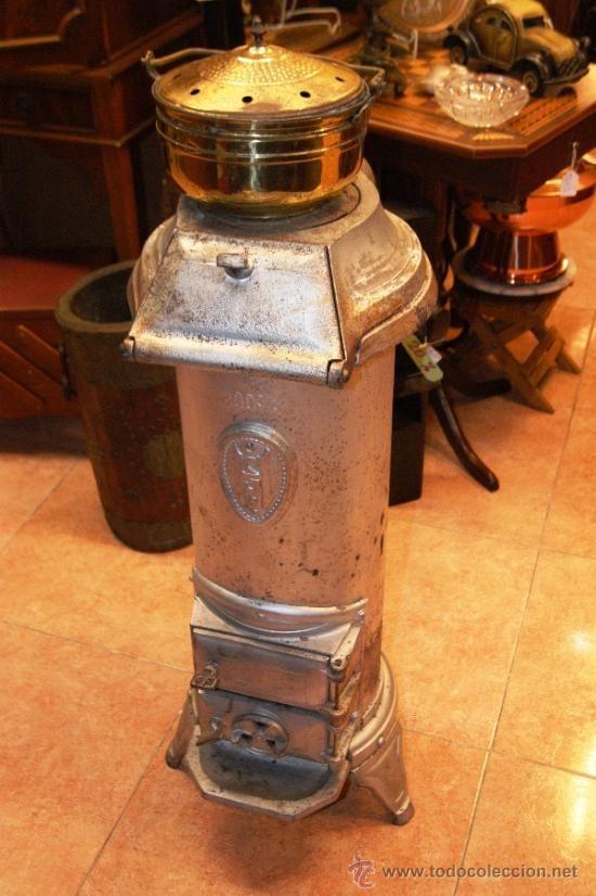 Antigua estufa de hierro fundido para carbon o le a - Estufas de lena de hierro ...