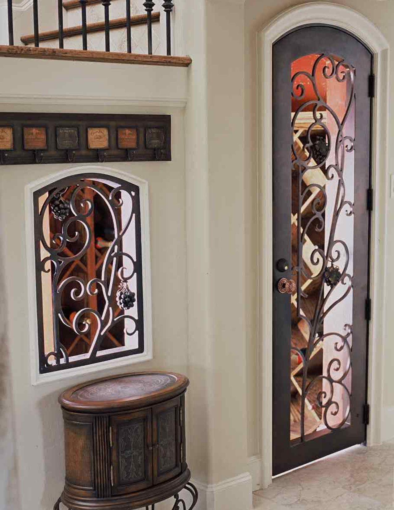 Interior Doors Chicago Chicago Grape Swirl Wrought Iron Wine Cellar