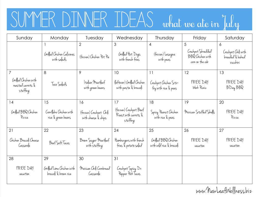 Easy summertime dinner recipes