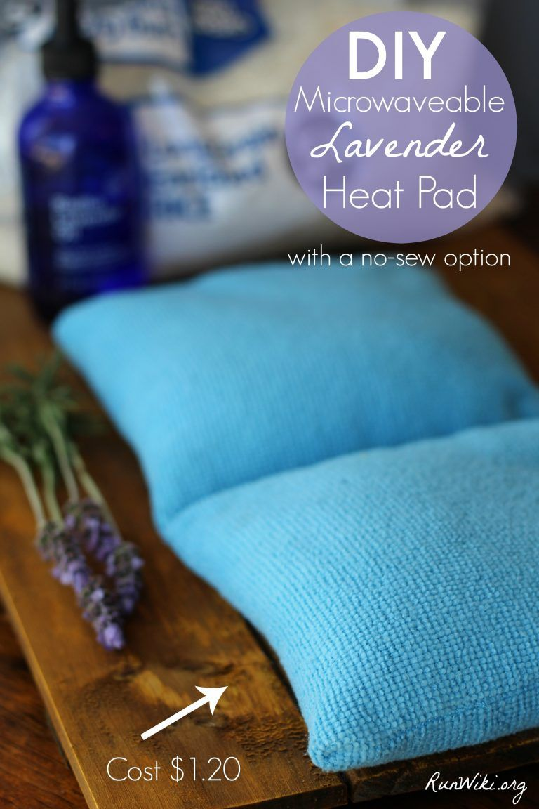 Diy microwaveable lavender heat pack with a no sew option