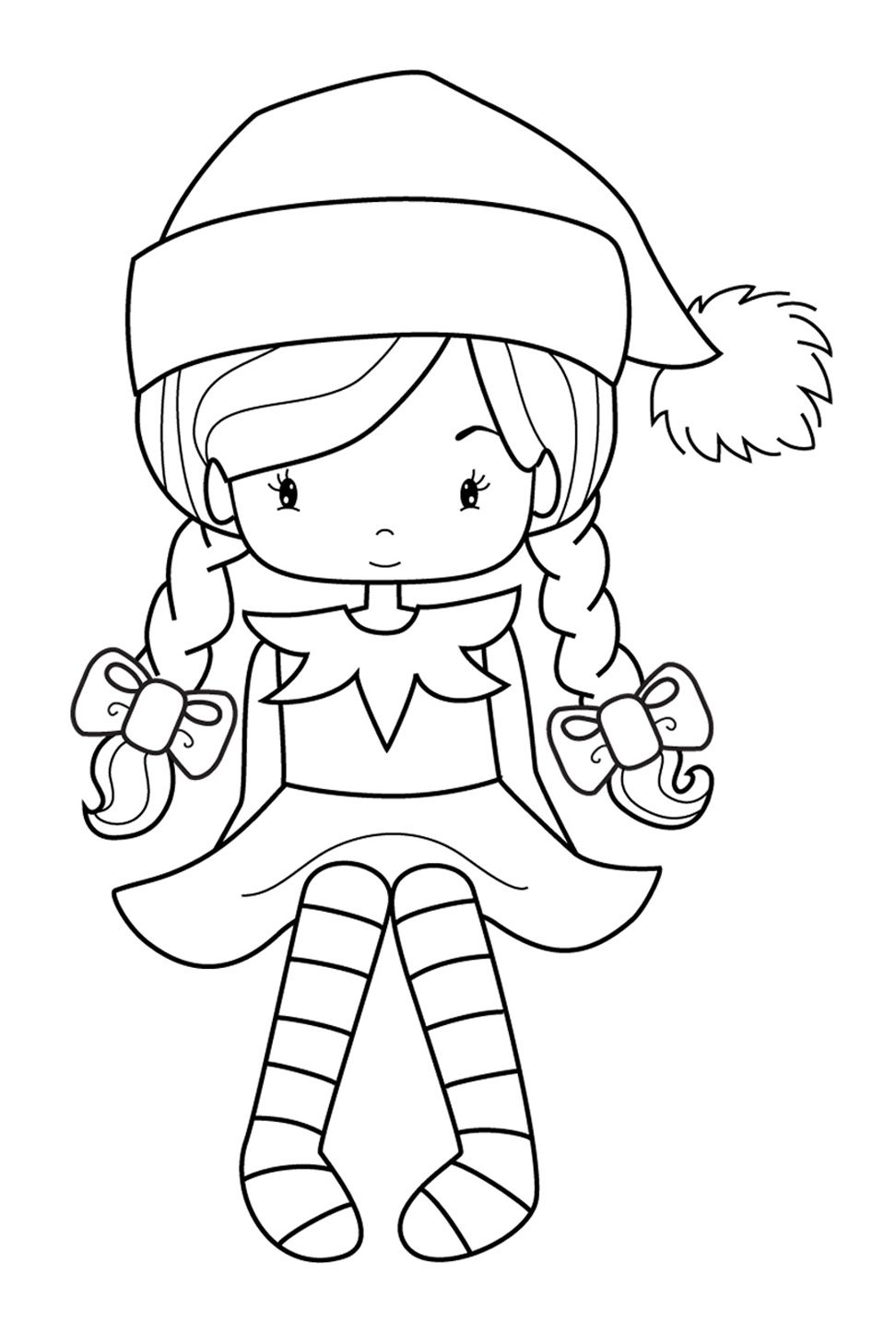 elf christmas coloring pages printable - photo#9