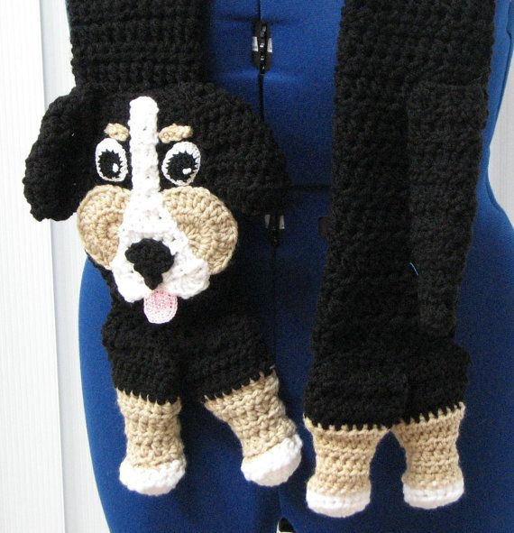 Berenese Mountain Dog Scarf Crochet by DonnasCrochetDesigns ...