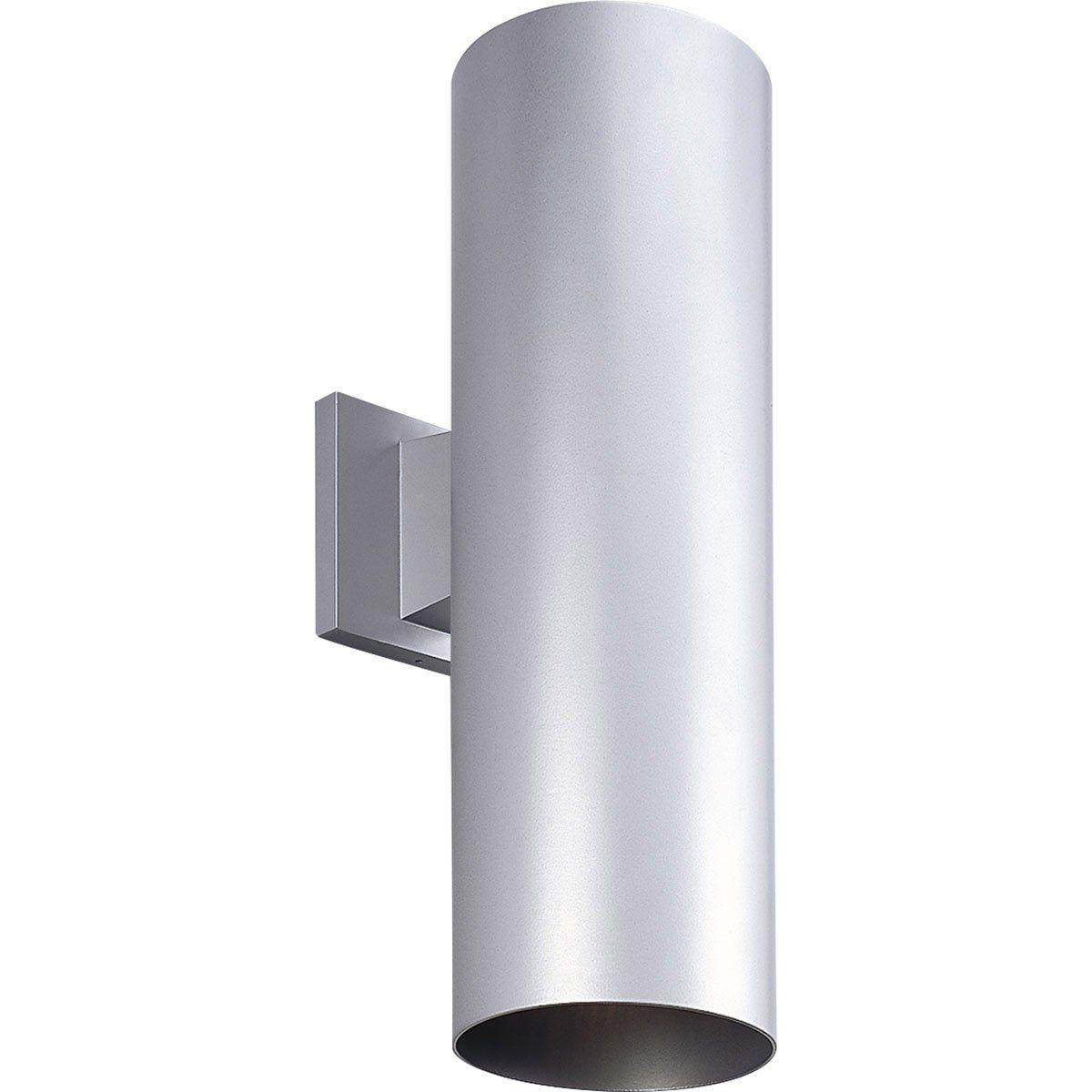 Progress lighting p cylinder light inch metallic gray