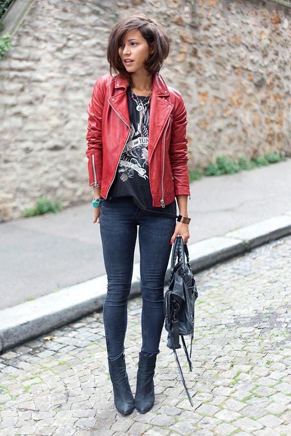 red leather jacket les babioles de zo blog mode et tendances bons plans shopping bijoux. Black Bedroom Furniture Sets. Home Design Ideas