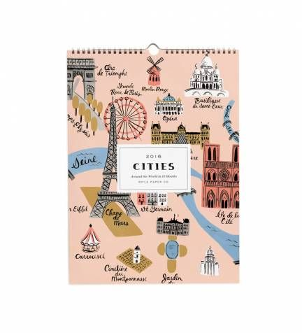 Rifle Paper Co. - 2016 Cities - Features 12 Original Illustrations