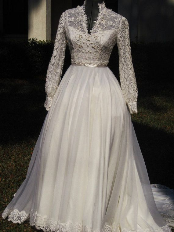 Vintage 70s Wedding Dress Kate Style Reserved For Amber
