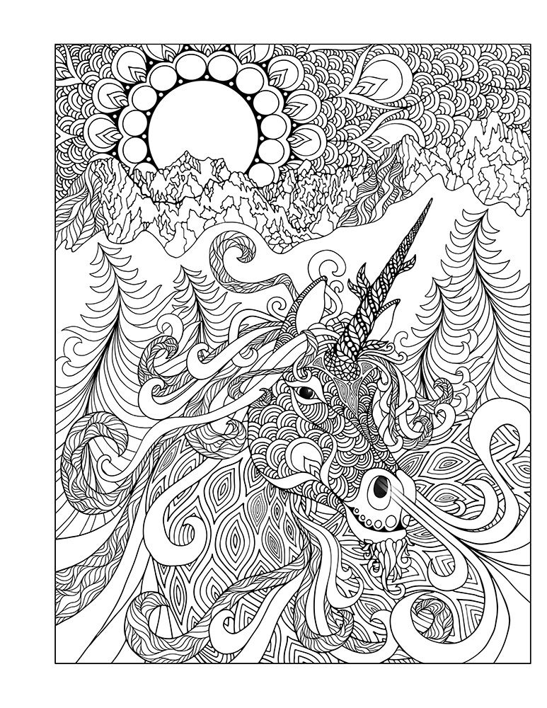 Unicorn Coloring Pages Hard