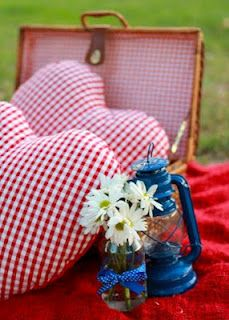 S's picnic wedding by Pod & Pea.  Photo by Figtree Pictures. love the hearts!