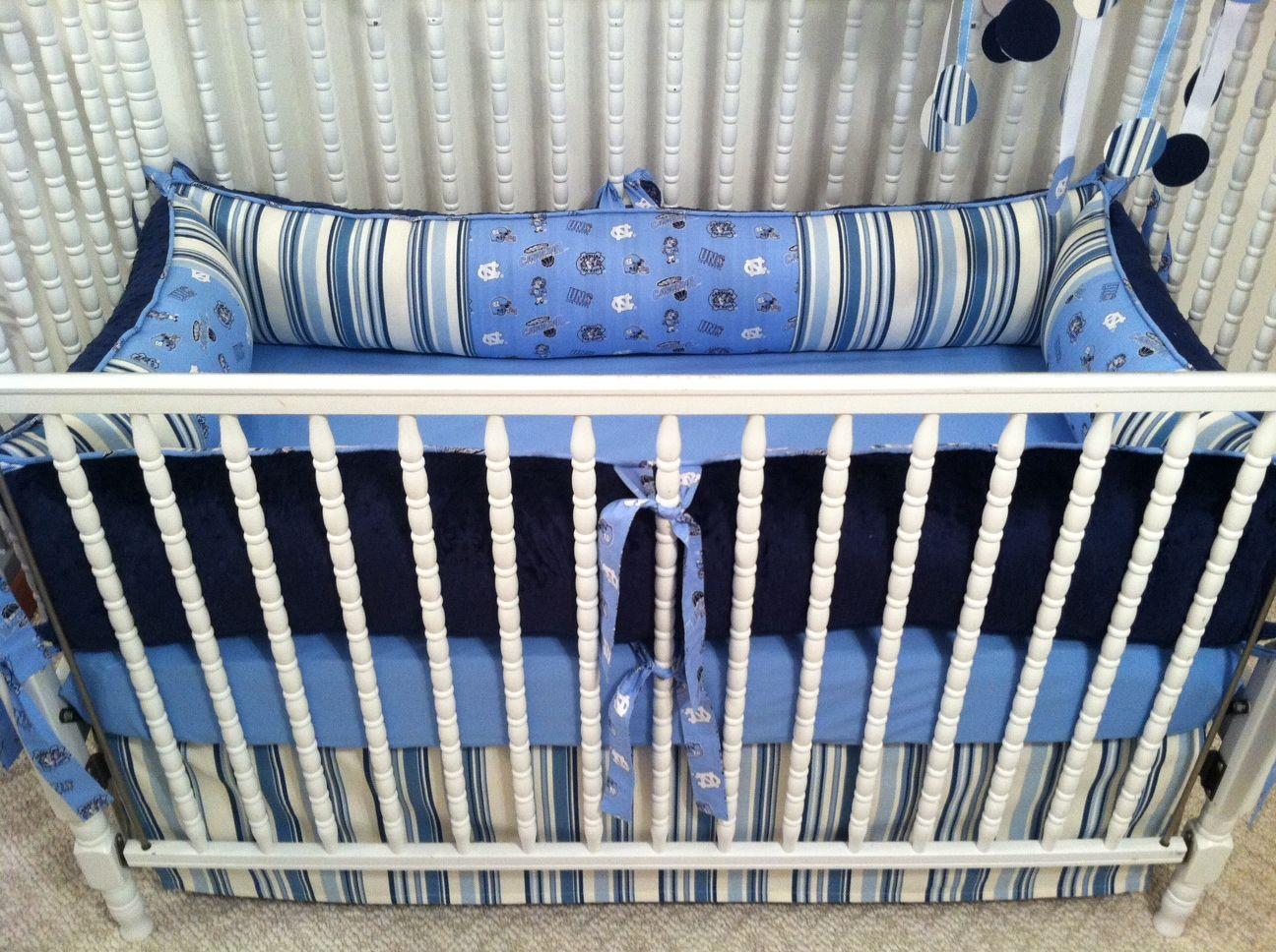 Zellers baby cribs - Unc Tarheels Carolina Baby Nursery Crib Bedding Set Custom Designed By Posh Petites Boutique Navy