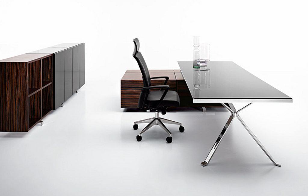 Design modern office furniture design revo by manerba for Simple office furniture design