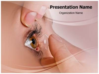 contact lens powerpoint template is one of the best powerpoint, Presentation templates