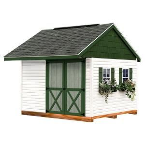 Clarion 10 Ft X 10 Ft Prepped For Vinyl Storage Shed Kit With Floor And Runners At The Home Depot 2 199 No Windows Shingles Vinyl Storage Sheds Storage Shed Kits Pallet Shed Plans