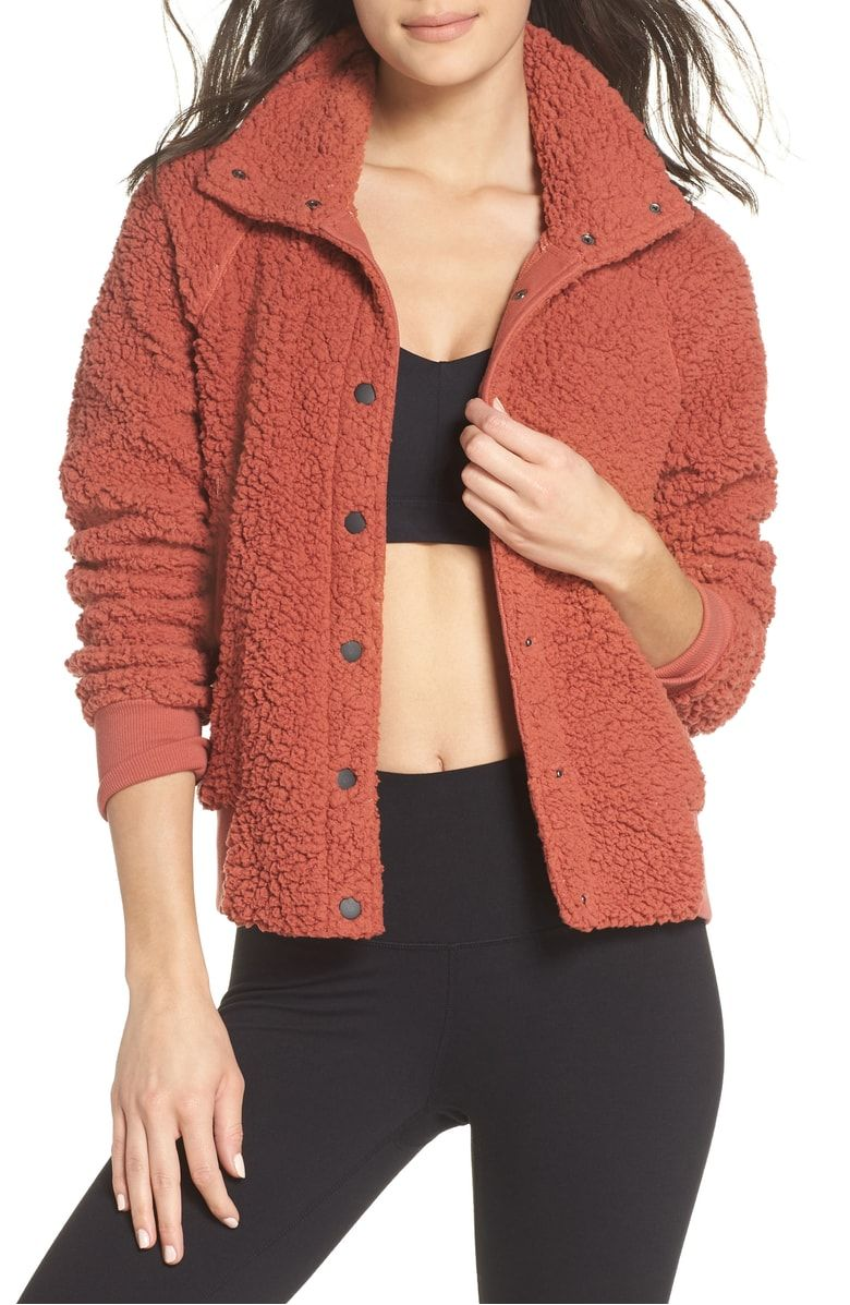 140b033c4 Free shipping and returns on Zella Cozy Up Bomber Jacket at ...