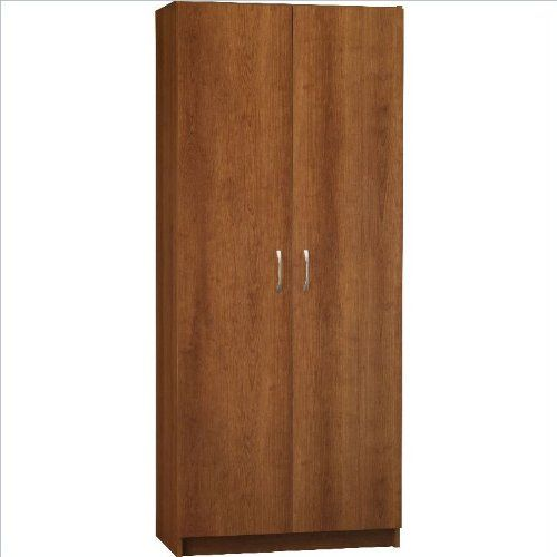 Ameriwood 7348025by Double Door Pantry 30inch Wide Cherry Check Out The Image By Visiting The Link We Are Spare Room Storage Ideas Storage Kitchen Storage
