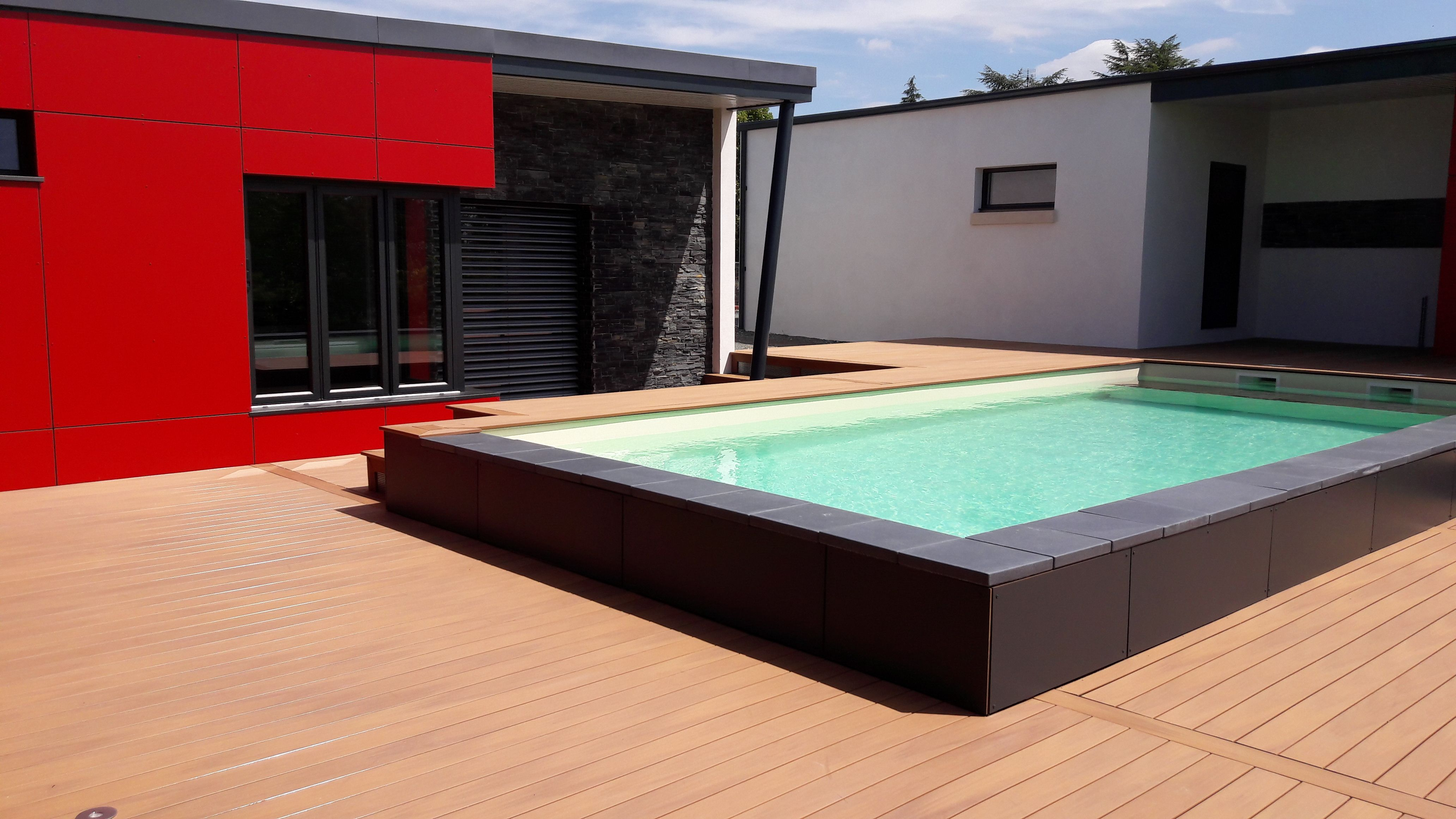 A Beautiful Modern Home With A Silvadec Wpc Terrace And A Nice