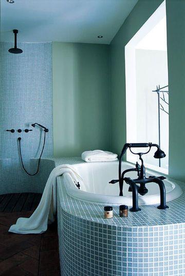 carrelage salle de bains, mosaïque salle de bains : 6 photos pour ... - Photo Salle De Bain Mosaique