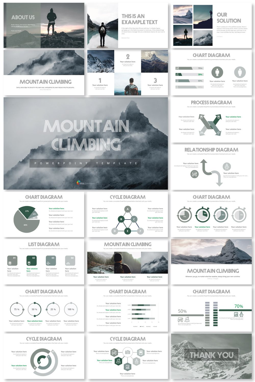 Mountain Climbing Ppt Templates Powerpoint Design Templates Business Powerpoint Templates Business Proposal Template