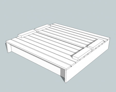 Actual plans for covered sand box with seats all supplies for Sandbox with built in seats plans