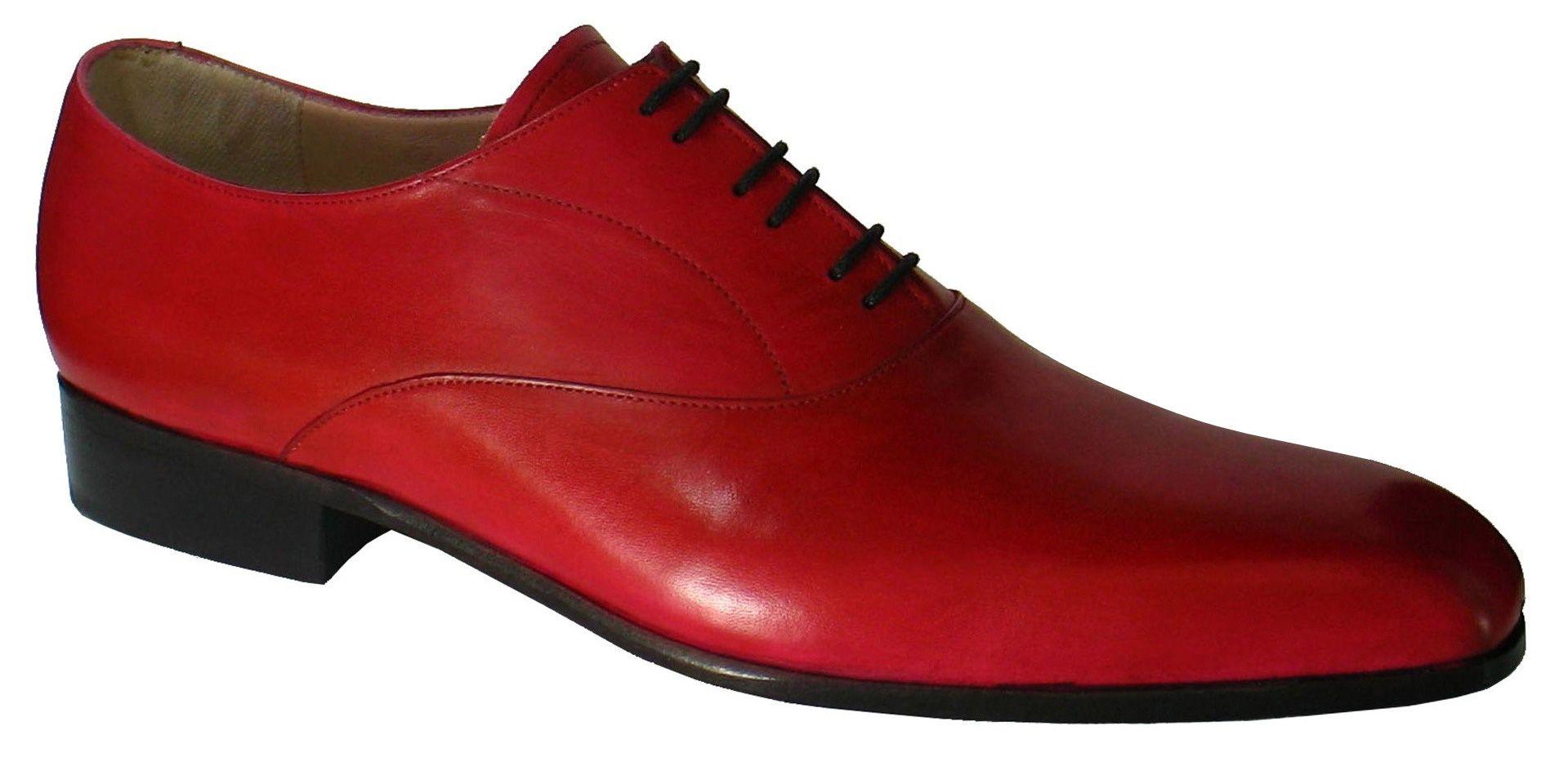 Rouge homme Ella chaussures souliers patine Derville 45BU0wqx