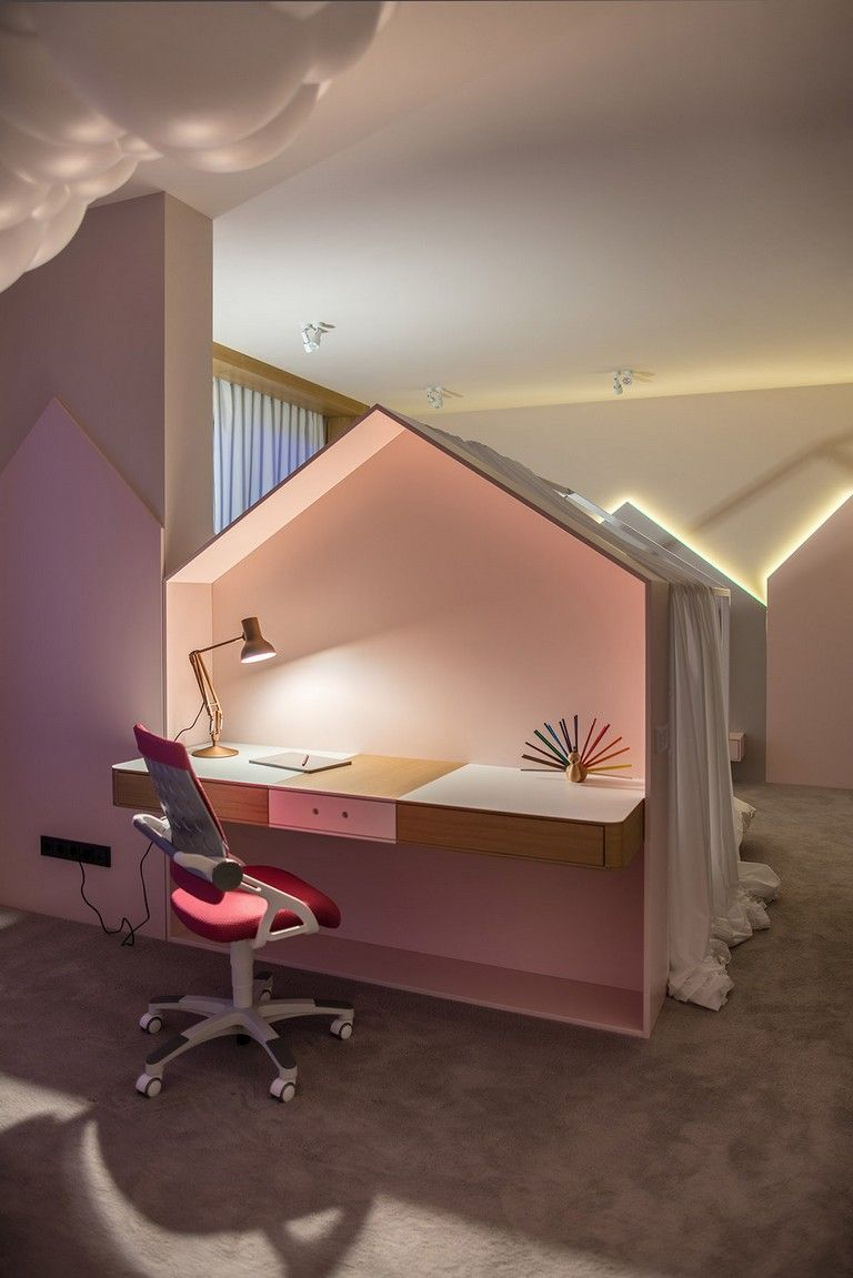 Decent Study Rooms: 25+ Good Inspirational Kids' Study Space #kids #study