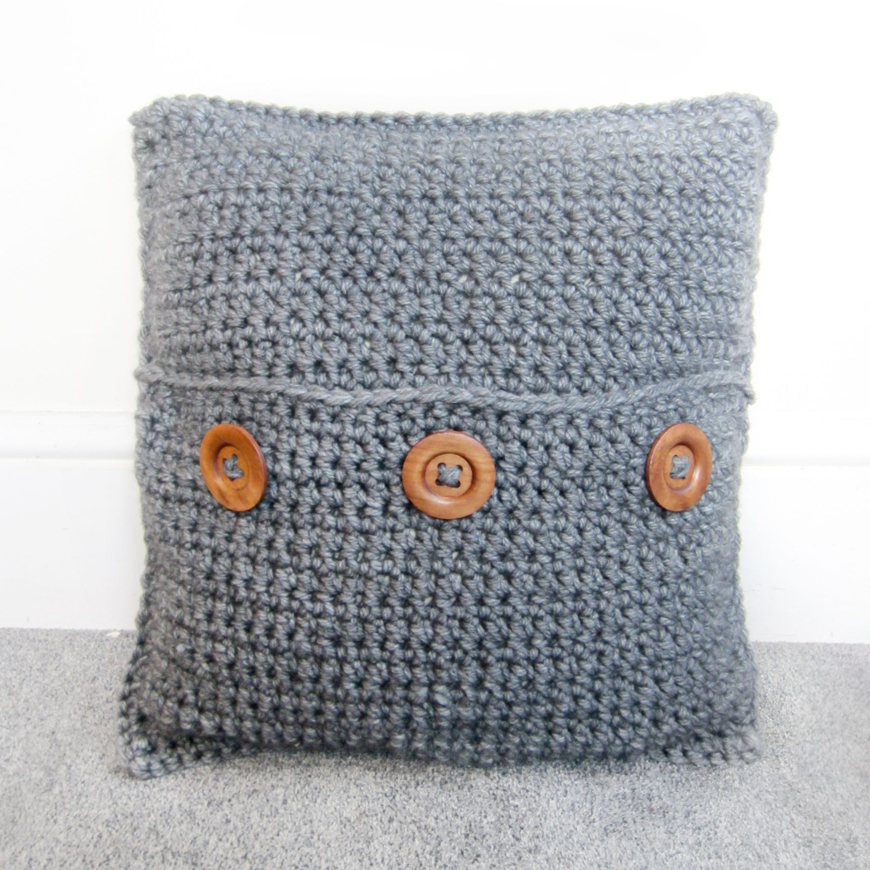 chunky crochet cushion - Fittex bil-Google | Projects to Try | Pinterest