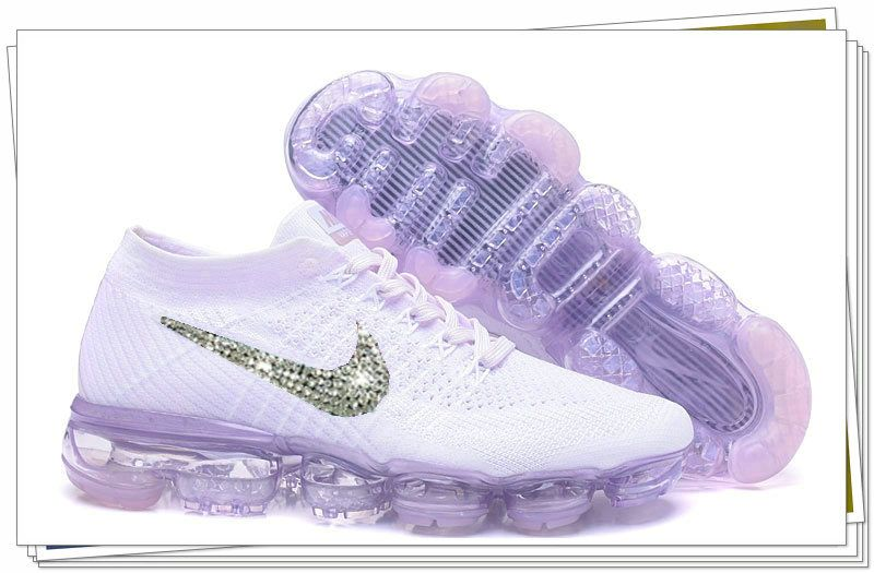 best service 319c1 7efd5 Cheapest 2018 Bling New Swarovski Crystal Swoosh VAPORMAX Flyknit 2018  LIGHT VIOLET
