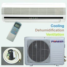 Pioneer Ductless Mini Split Air Conditioner 18000 Btu 1 5 Ton 13 Seer Cooling Heating Cooling Air Quality Air Conditioners Accessories Air C